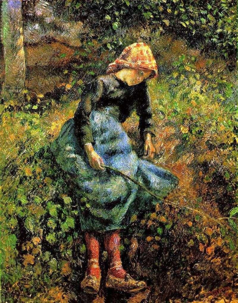 Пастушка (Дівчинка з прутом)   Каміль Піссарро