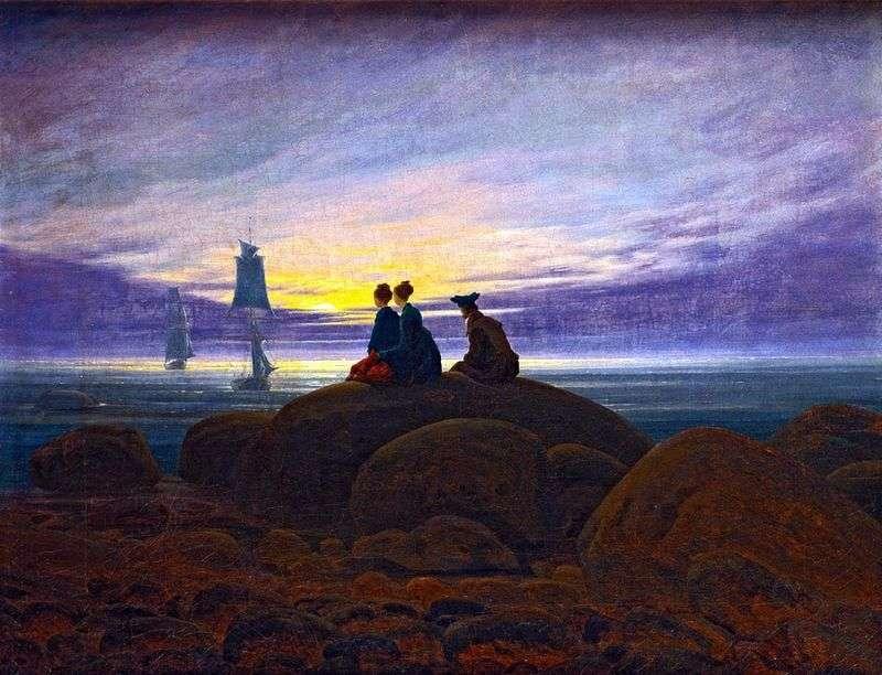 Схід Місяця над морем   Каспар Давид Фрідріх