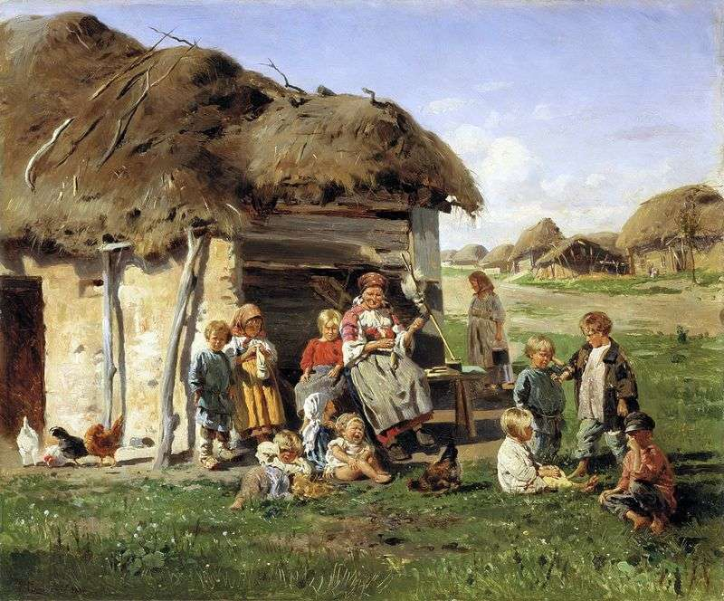 Селянські діти   Володимир Маковський