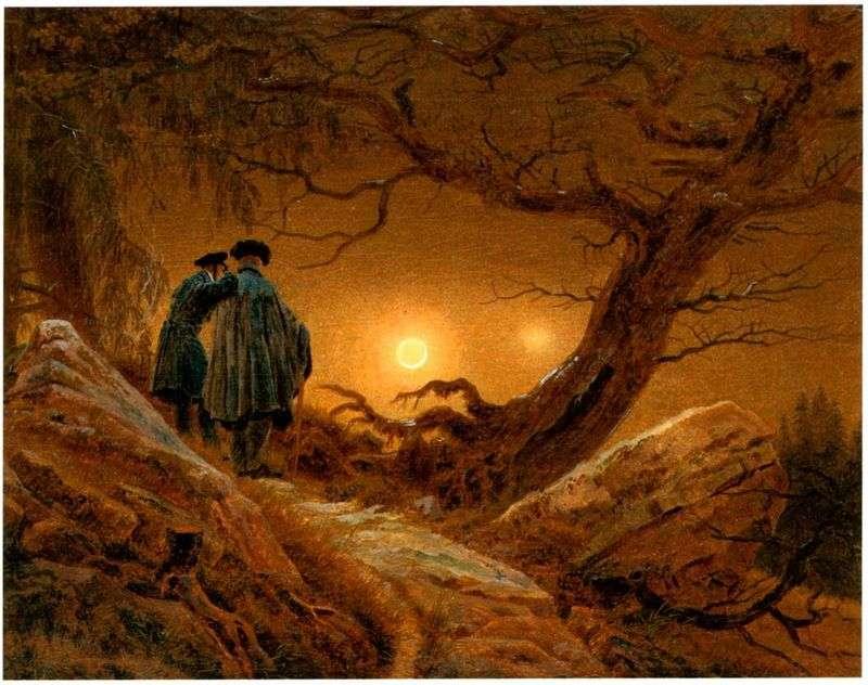 Двоє, созерцающие Місяць   Каспар Давид Фрідріх