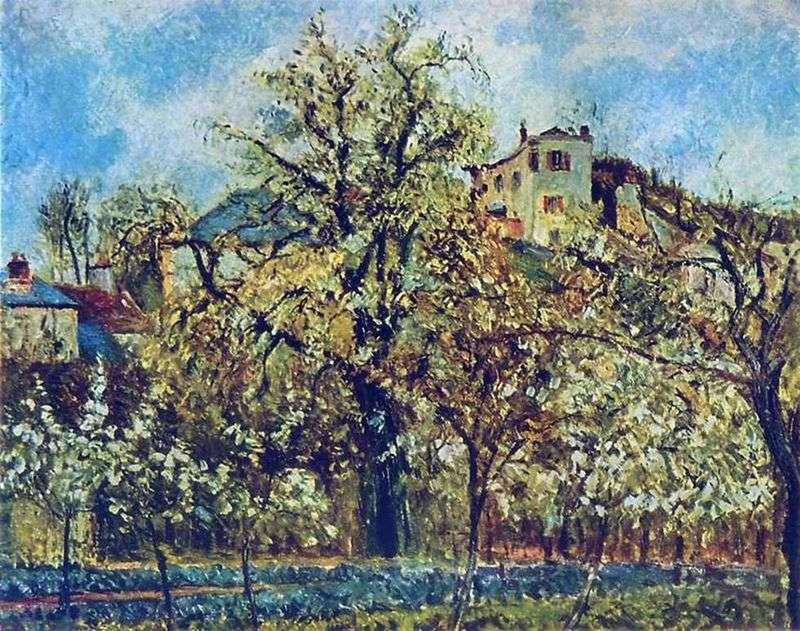 Фруктовий сад в Понтуазі. Весна   Каміль Піссарро