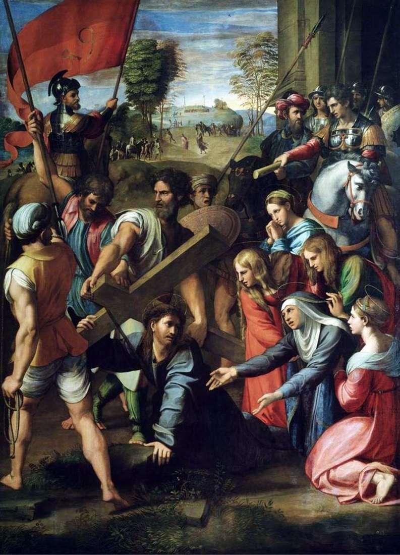 Падіння Христа по дорозі на Голгофу   Рафаель Санті