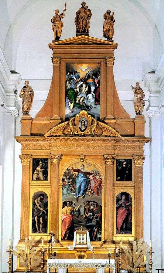 Вівтар церкви Санто Домінго ель Антігуа в Толедо   Ель Греко