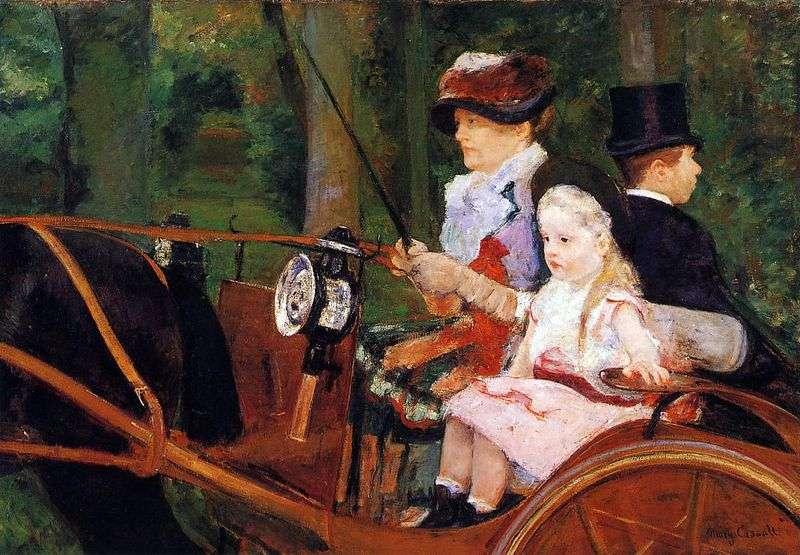 Мати і дитина у візку   Мері Кассат