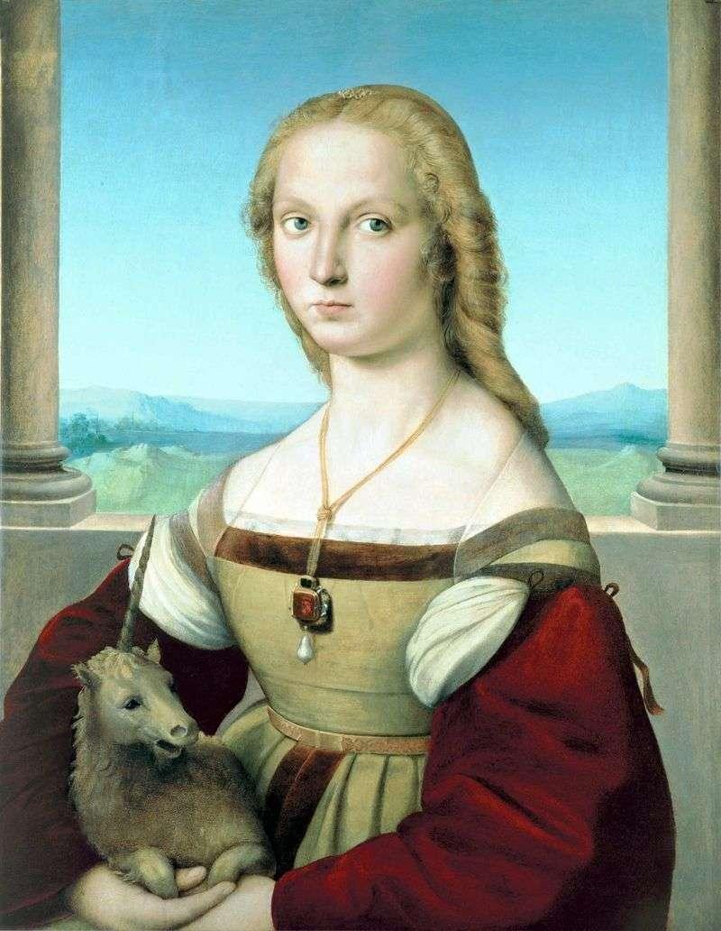 Портрет дами з єдинорогом   Рафаель Санті