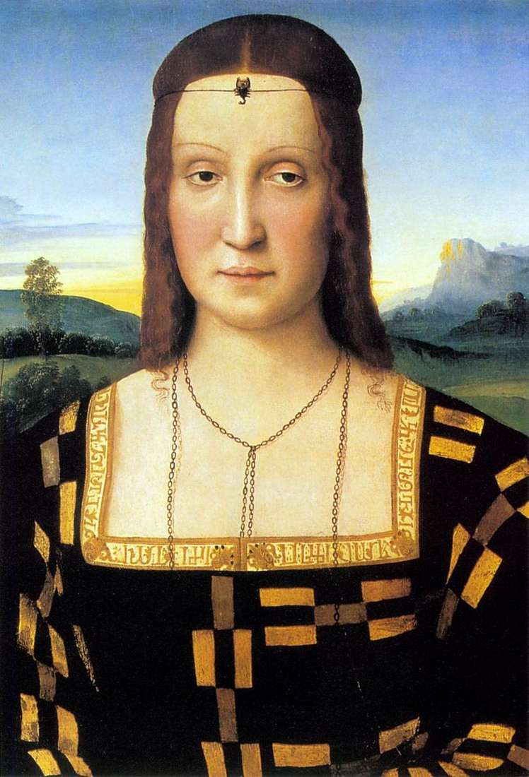 Портрет Елізабет Гонзаго   Рафаель Санті