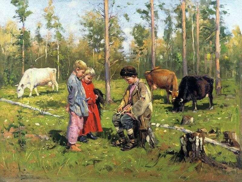 Пастушки   Володимир Маковський