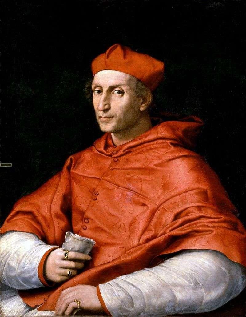 Портрет Кардинала Биббиени   Рафаель Санті