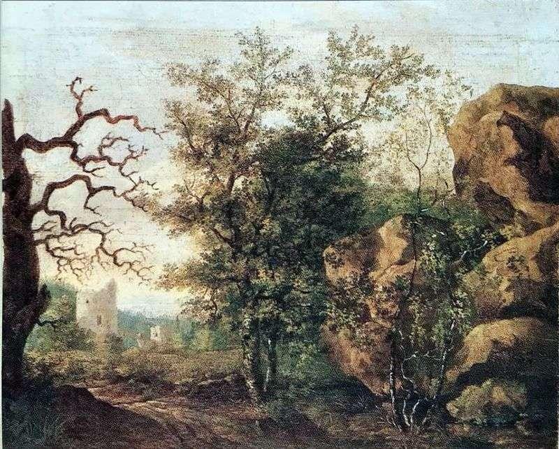 Пейзаж з засохлим деревом   Каспар Давид Фрідріх