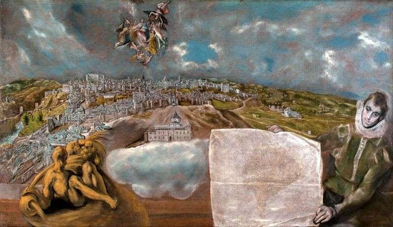Вигляд і план Толедо   Ель Греко