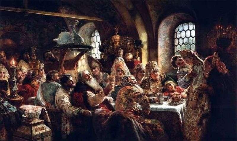 Боярський весільний бенкет XVII століття   Костянтин Маковський