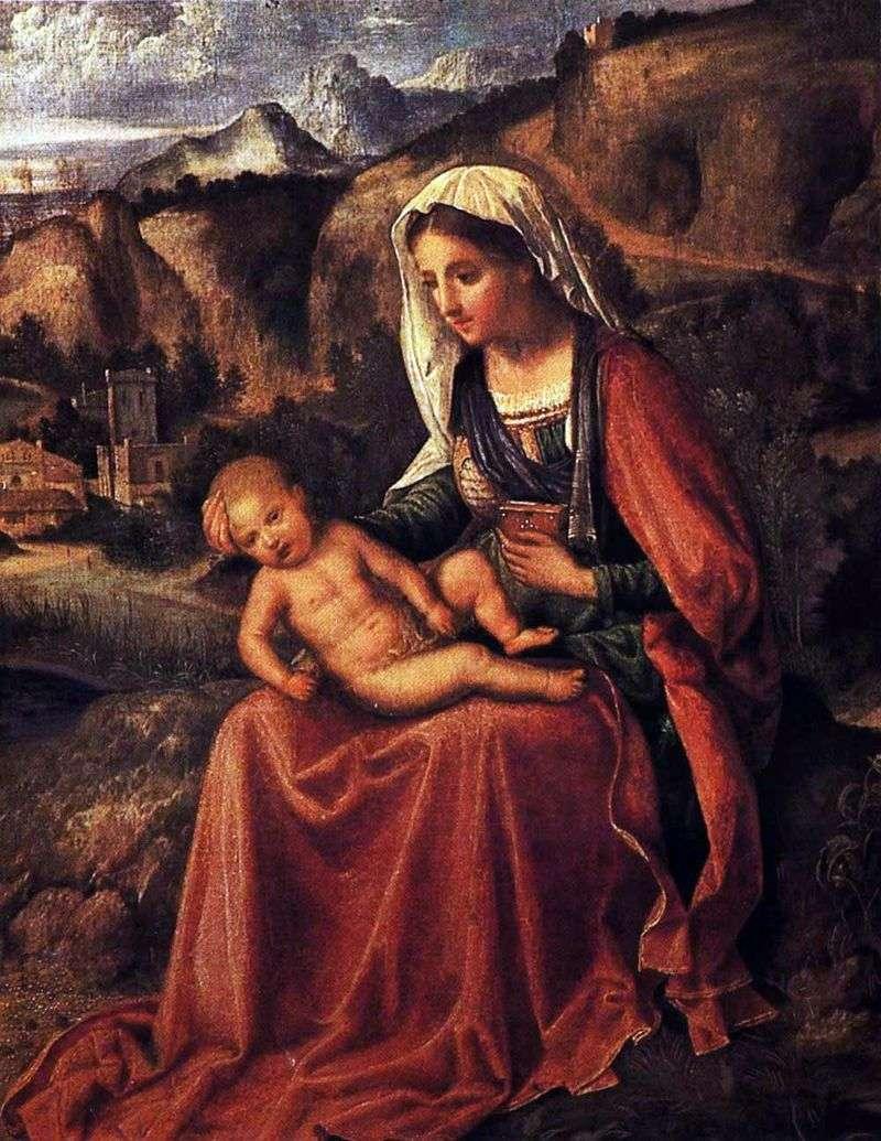 Мадонна з немовлям у пейзажі   Джорджоне Барбарелли да Кастельфранко