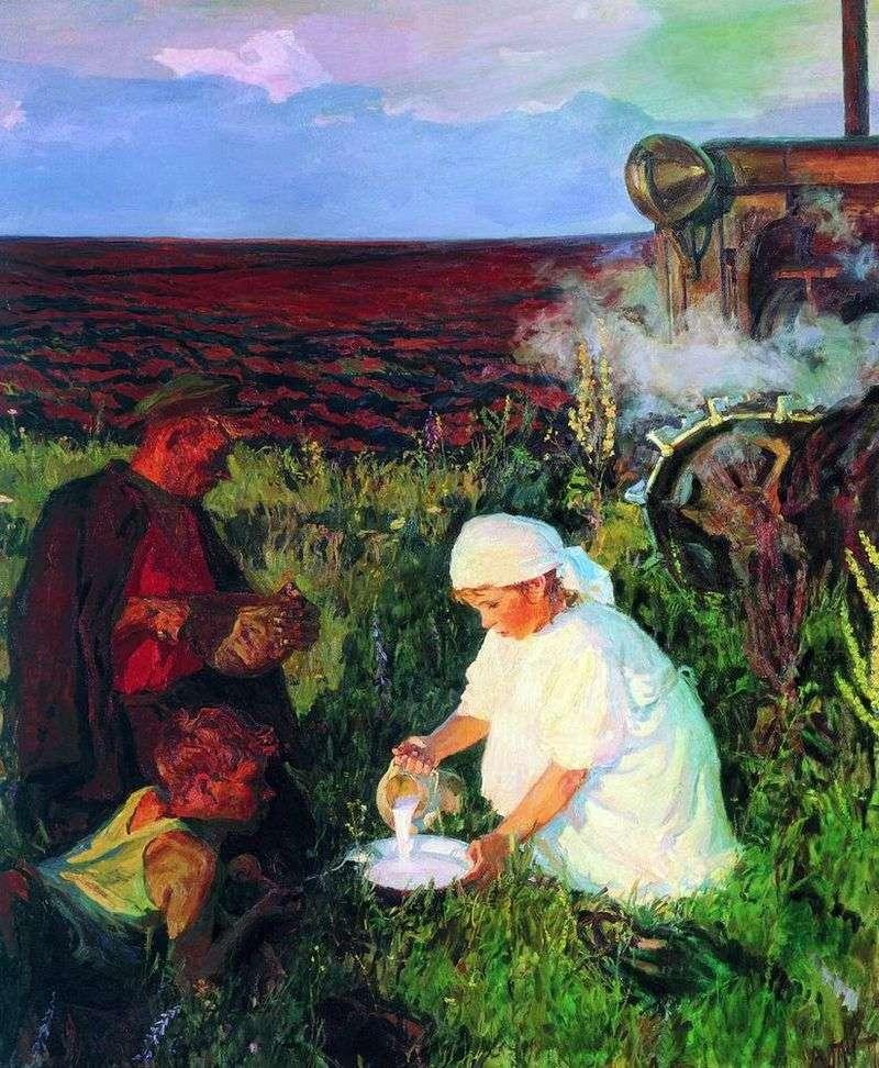 Вечеря трактористів   Аркадій Пластов