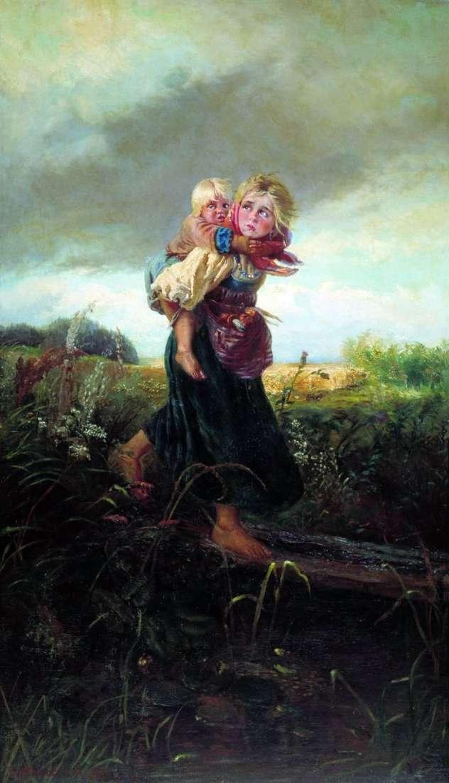 Діти, що біжать від грози   Костянтин Маковський