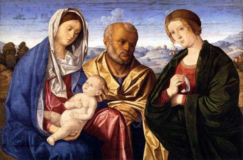 Святе сімейство зі святої дружиною   Вінченцо Катена