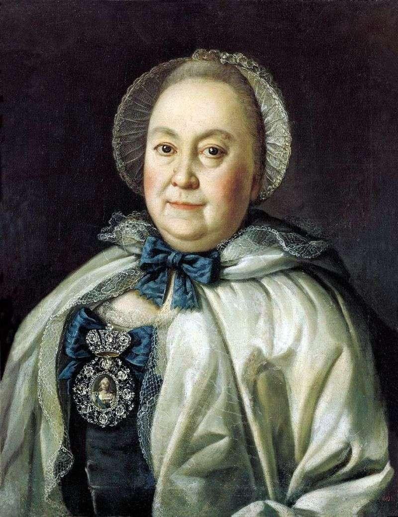 Портрет статс дами Марії Андріївни Румянцевої   Олексій Антропов