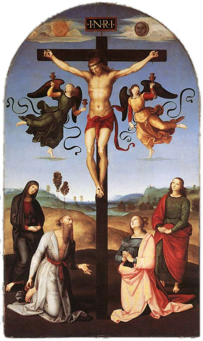Розпяття з Дівою Марією, святими і ангелами   Рафаель Санті