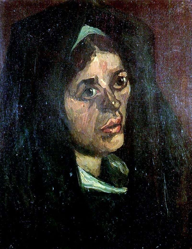 Портрет селянки в зеленій шалі   Вінсент Ван Гог