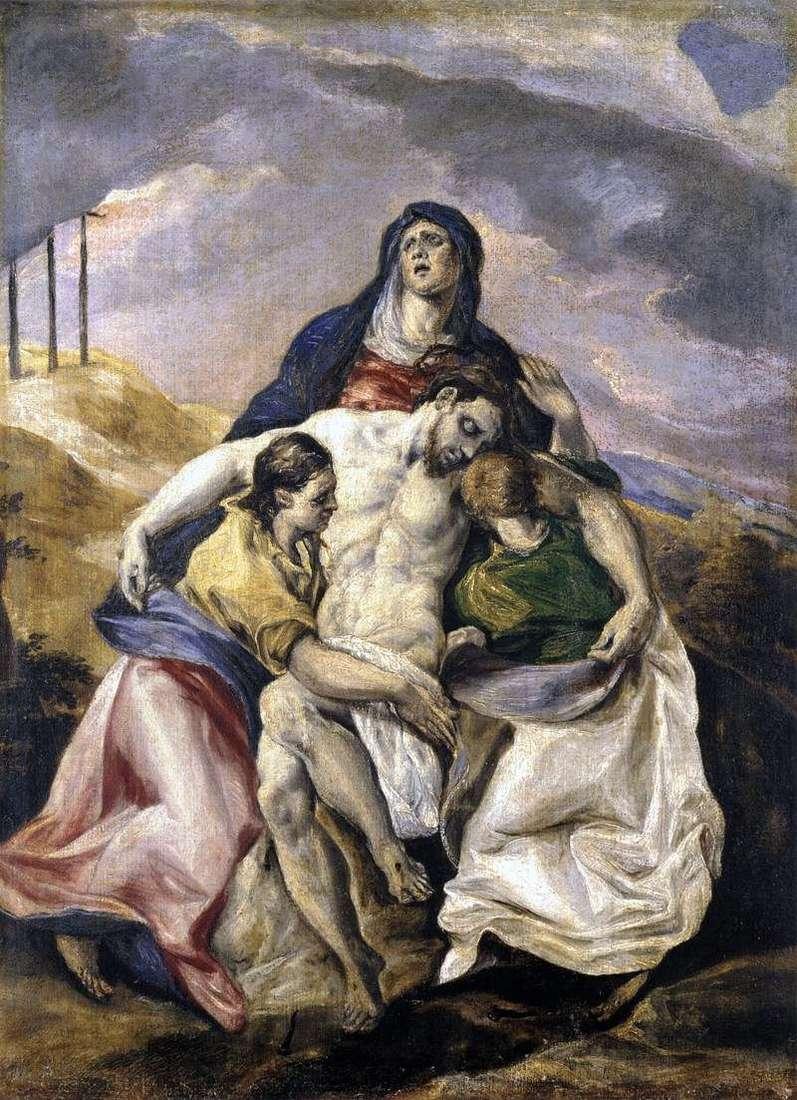 Пєта, або Оплакування Христа   Ель Греко