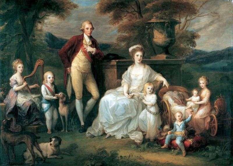 Король Фердинанд IV із сімєю   Ангеліка Кауфман