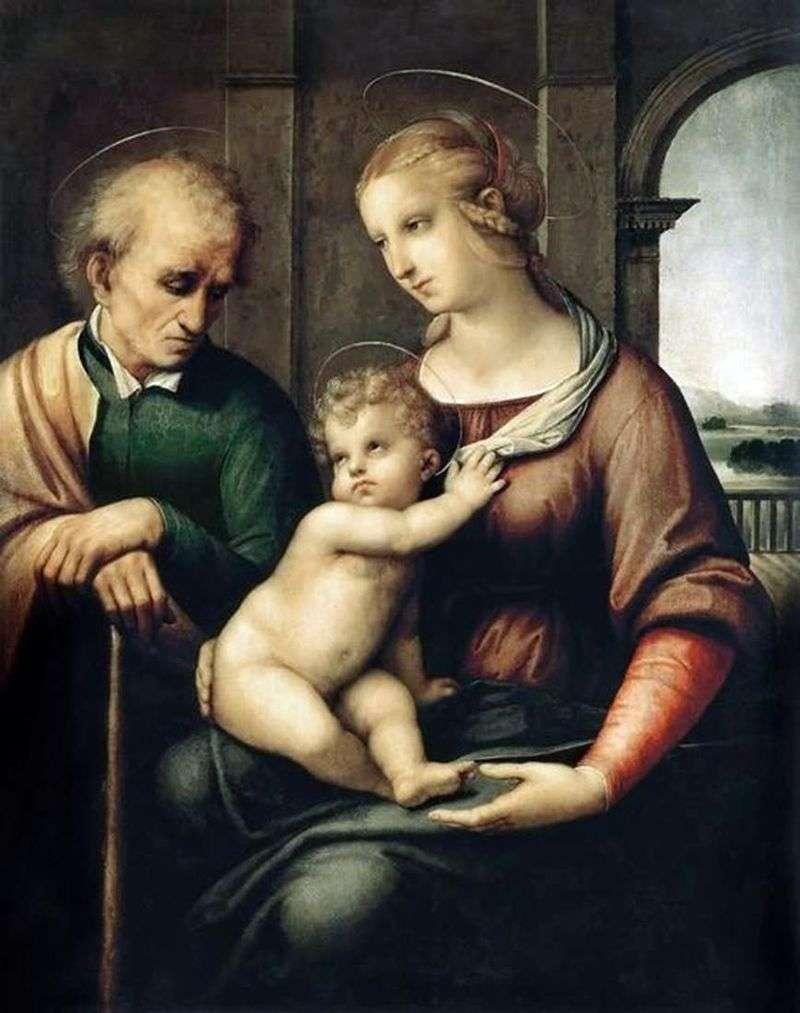 Святе сімейство або Мадонна з безбородим Йосипом   Рафаель Санті