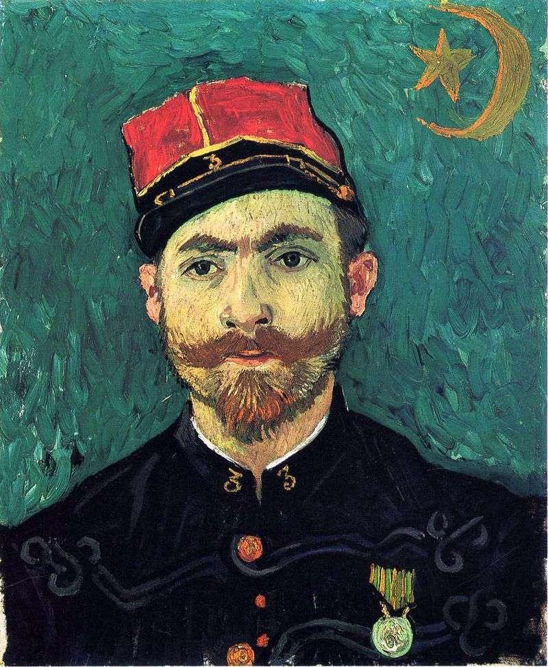 Портрет Мілле, другого лейтенанта Зуавского полку   Вінсент Ван Гог