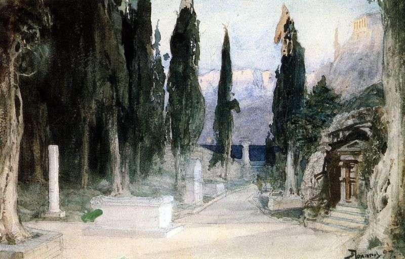 Кладовище серед кипарисів   Василь Полєнов