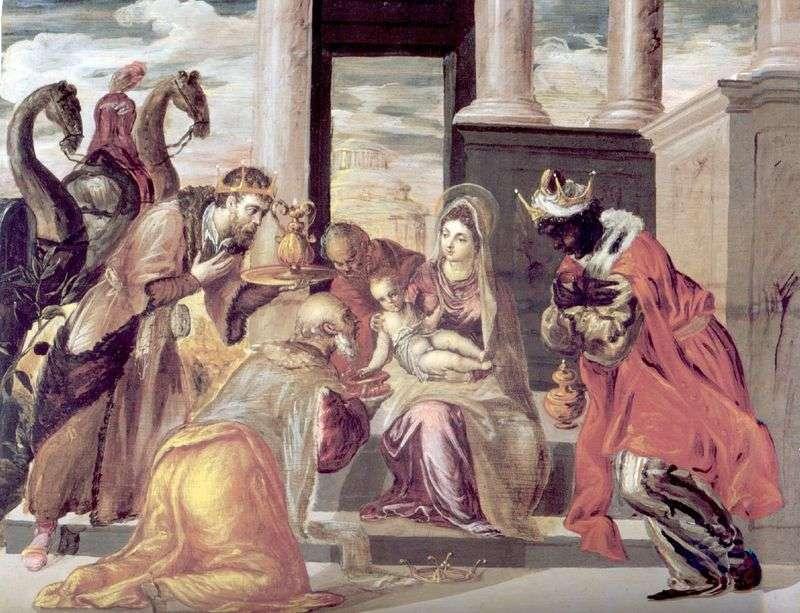 Поклоніння волхвів   Ель Греко