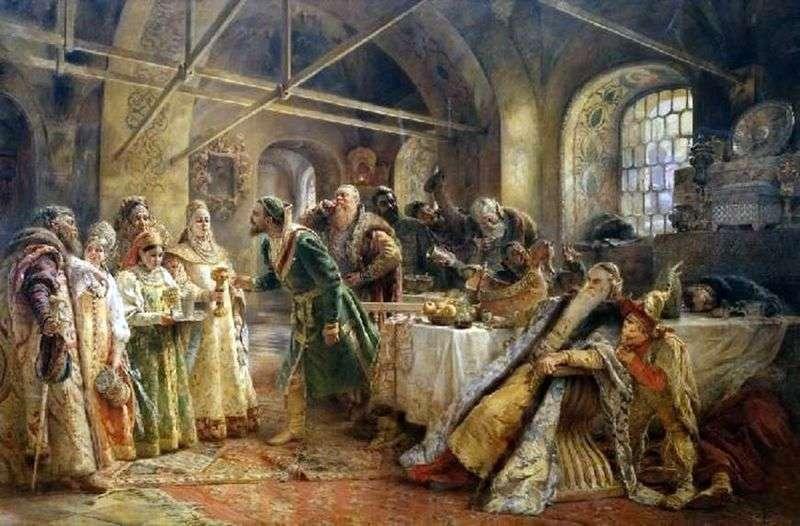 Поцілунковий обряд (Бенкет у боярина Морозова)   Костянтин Маковський