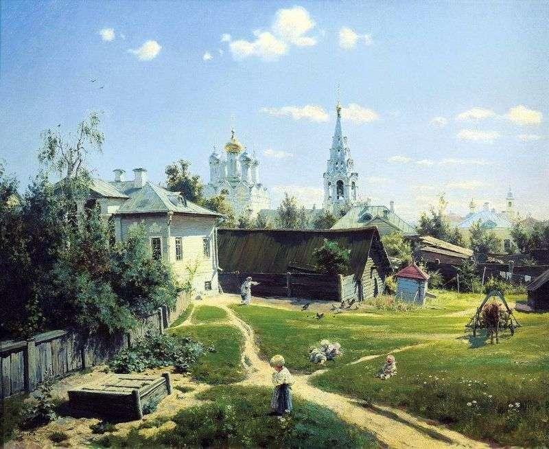 Московський дворик   Василь Полєнов