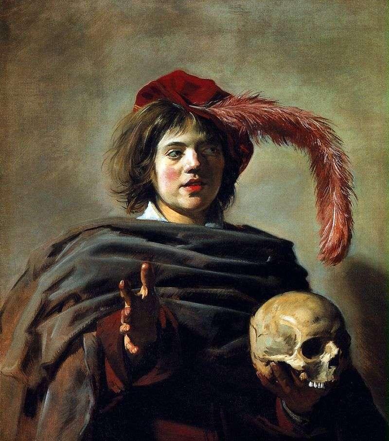 Портрет молодого чоловіка з черепом (Ванітас)   Франс Халс