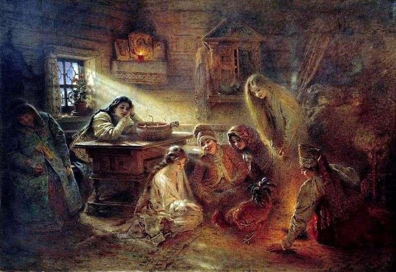 Святочні ворожіння   Костянтин Маковський