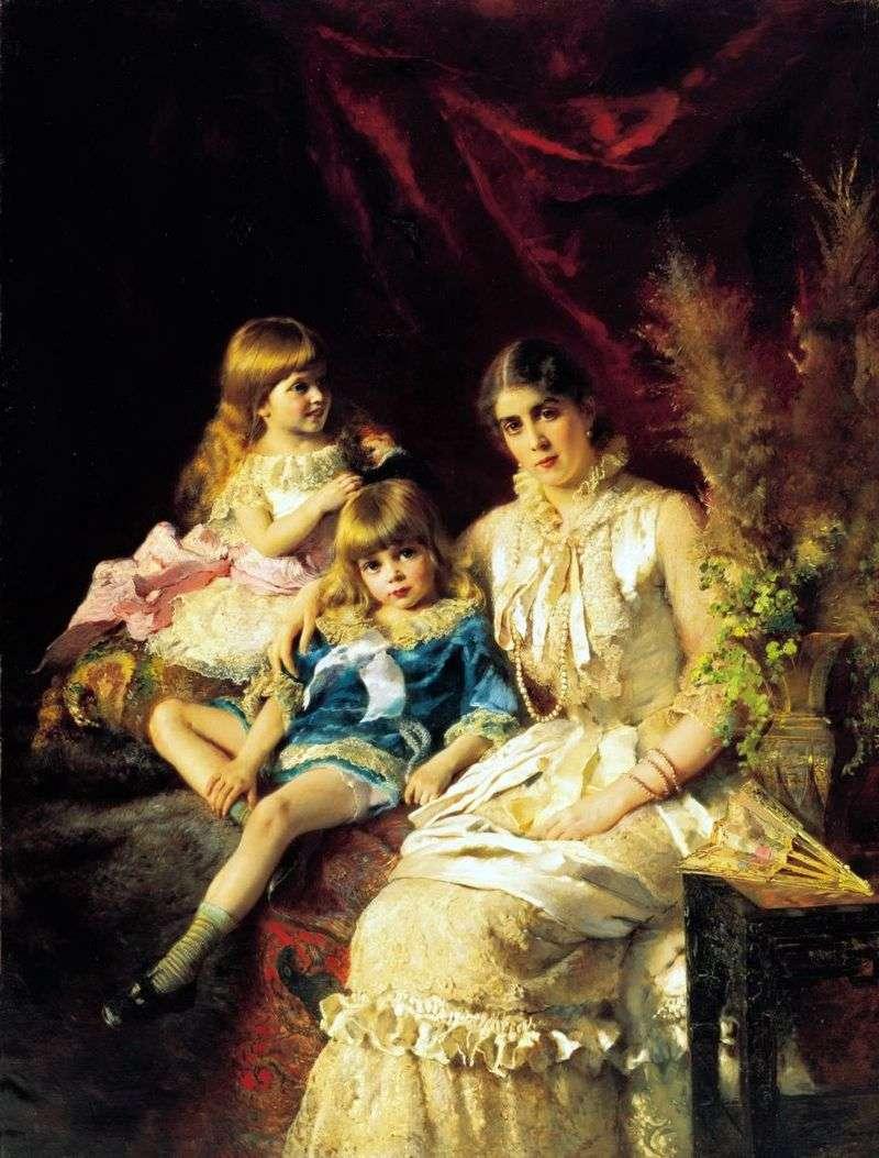 Сімейний портрет   Костянтин Маковський