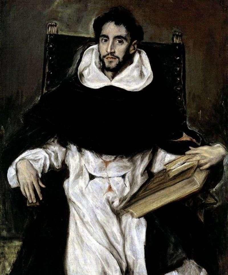Портрет ченця Ортенсіо Паравісіно   Ель Греко