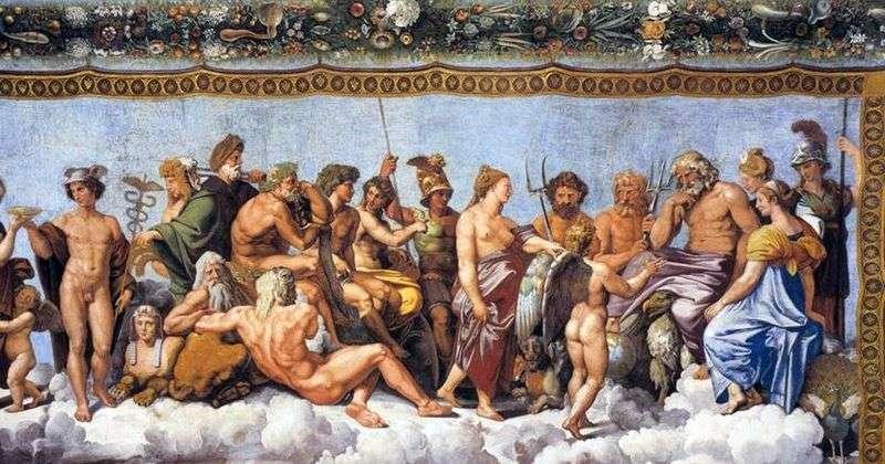 Торжество Психеї на Олімпі (фреска)   Рафаель Санті