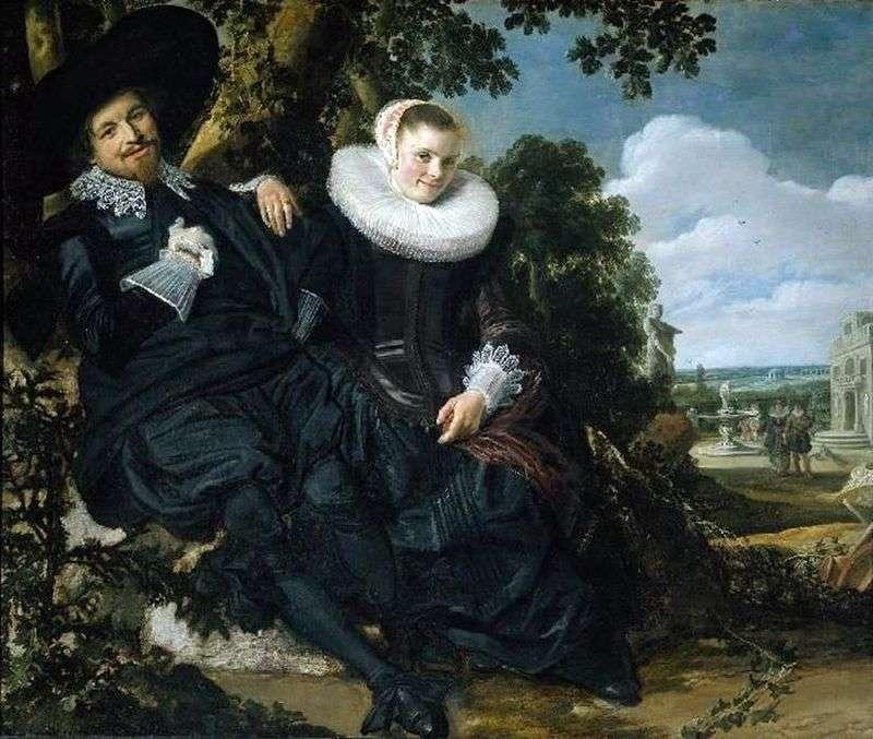 Сімейний портрет Ісаака Маси і його дружини   Франс Халс