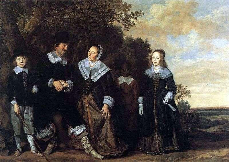 Сімейний портрет на тлі пейзажу   Франс Халс
