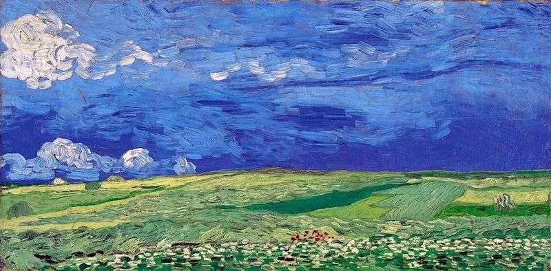 Пшеничне поле під хмарним небом   Вінсент Ван Гог