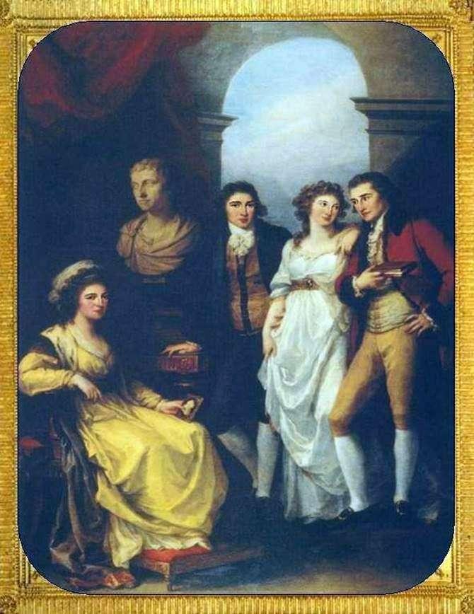Сімейний портрет Е. П. Барятинській   Кауфман, Ангеліка