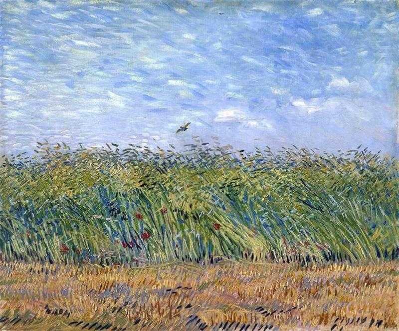 Пшеничне поле з жайворонком   Вінсент Ван Гог