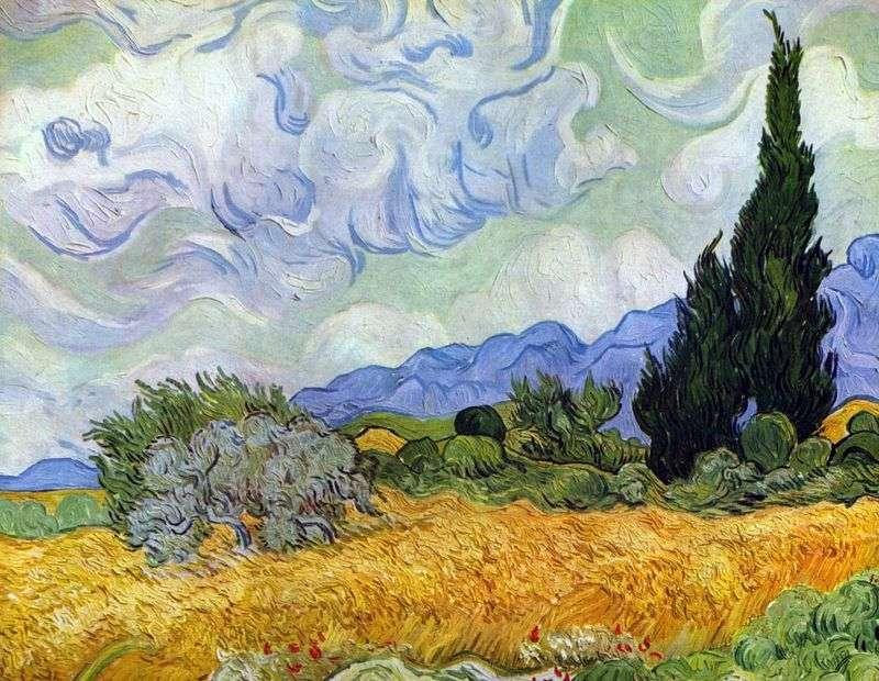 Пшеничне поле з кипарисами   Вінсент Ван Гог