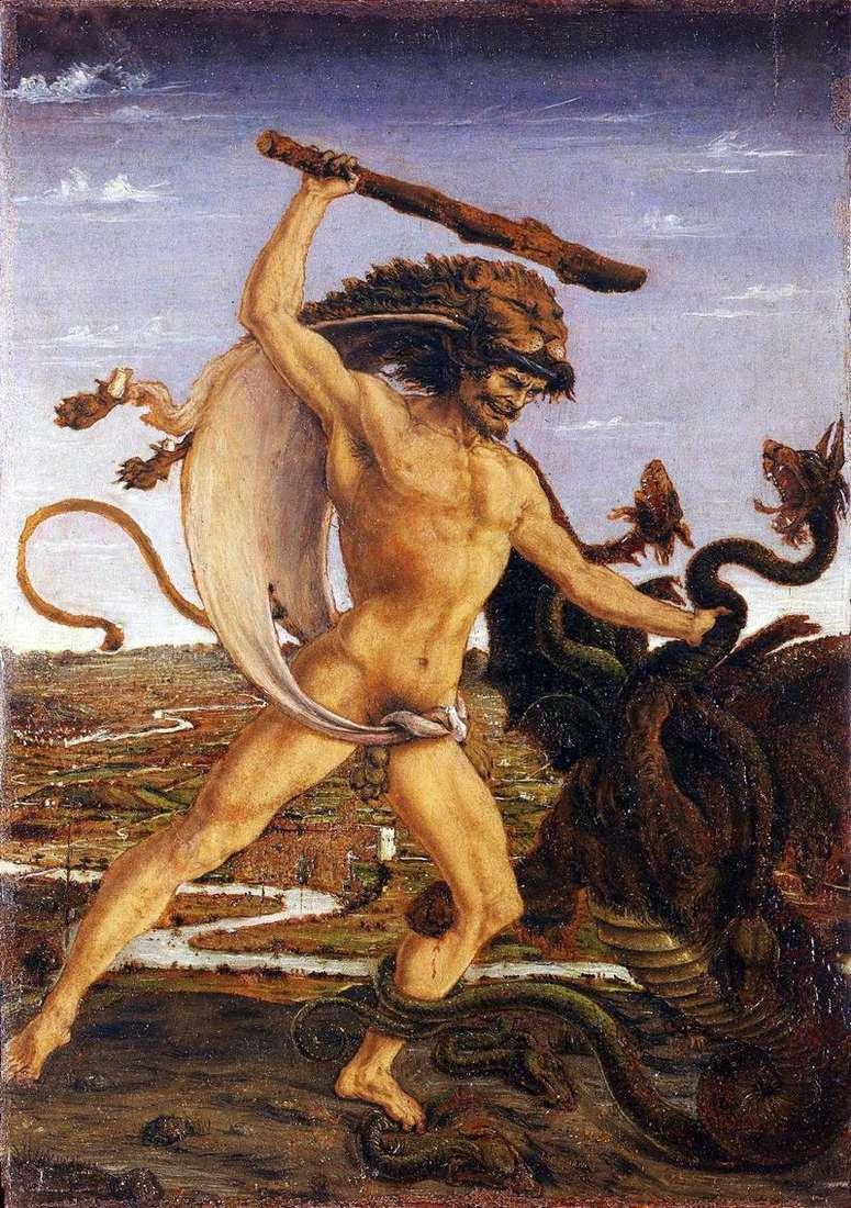 Геракл і гідра   Антоніо дель Поллайоло