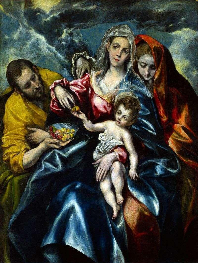 Святе сімейство з Марією Магдалиною   Ель Греко