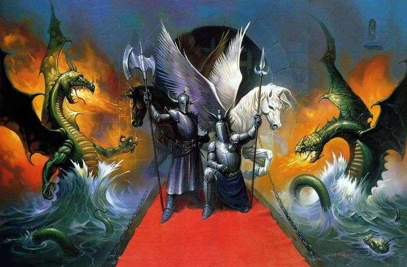 Дракони и рицари   Кен Келли