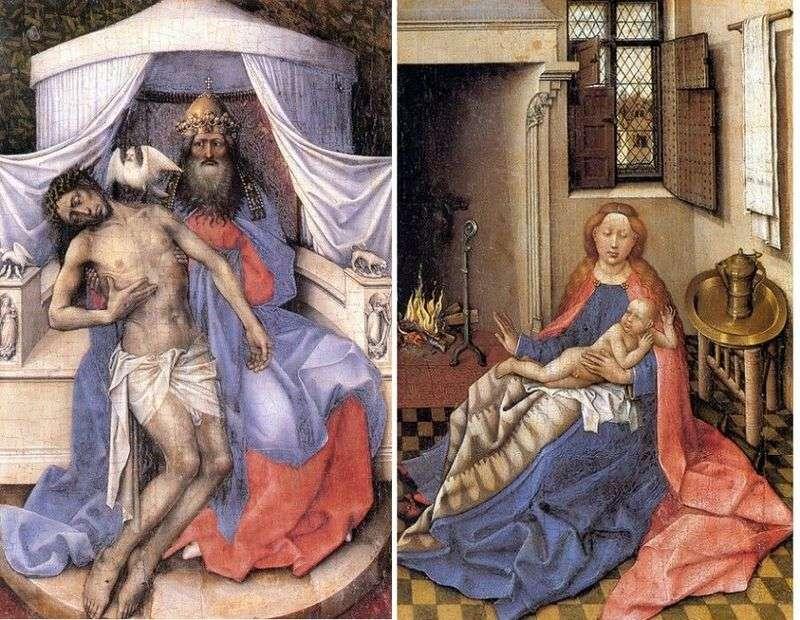 Трійця. Мадонна з немовлям (диптих)   Робер Кампен