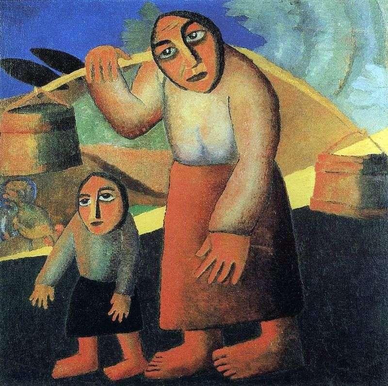 Селянка з відрами   Казимир Малевич
