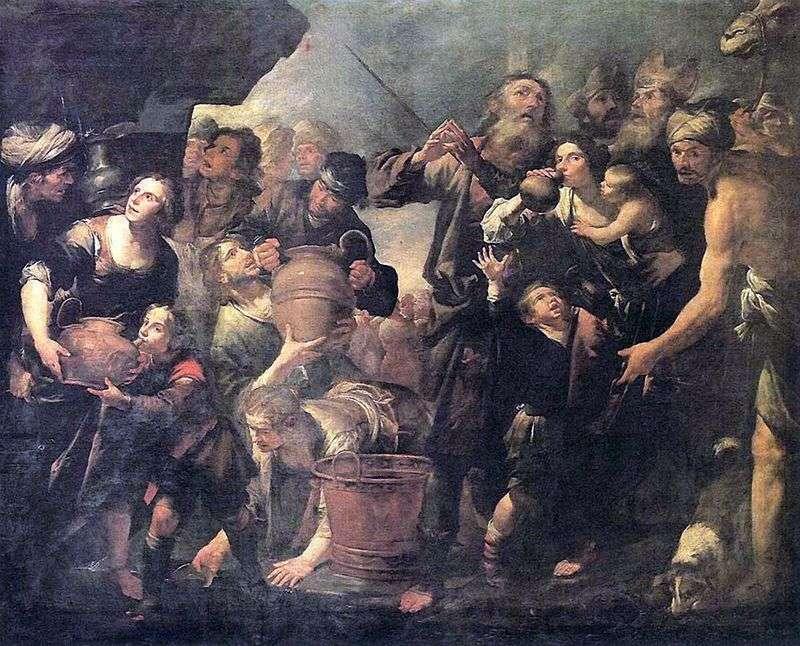 Мойсей, який добуває воду із скелі   Джоаккіно Ассерето