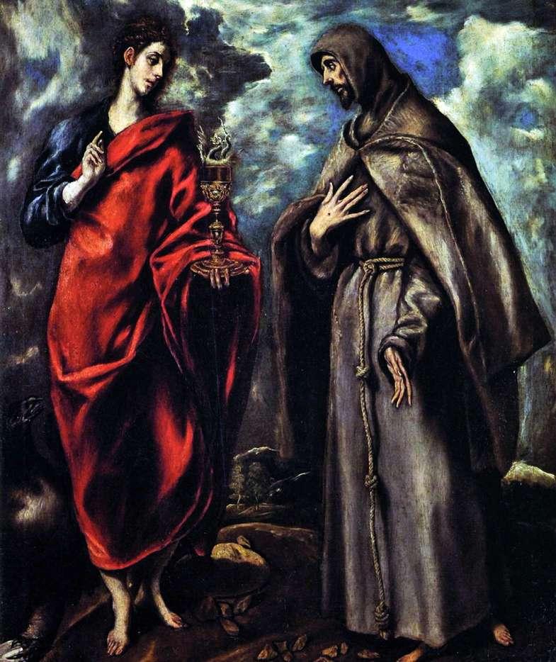 Святий Іоанн Євангеліст і святий Франциск Ассізький   Ель Греко