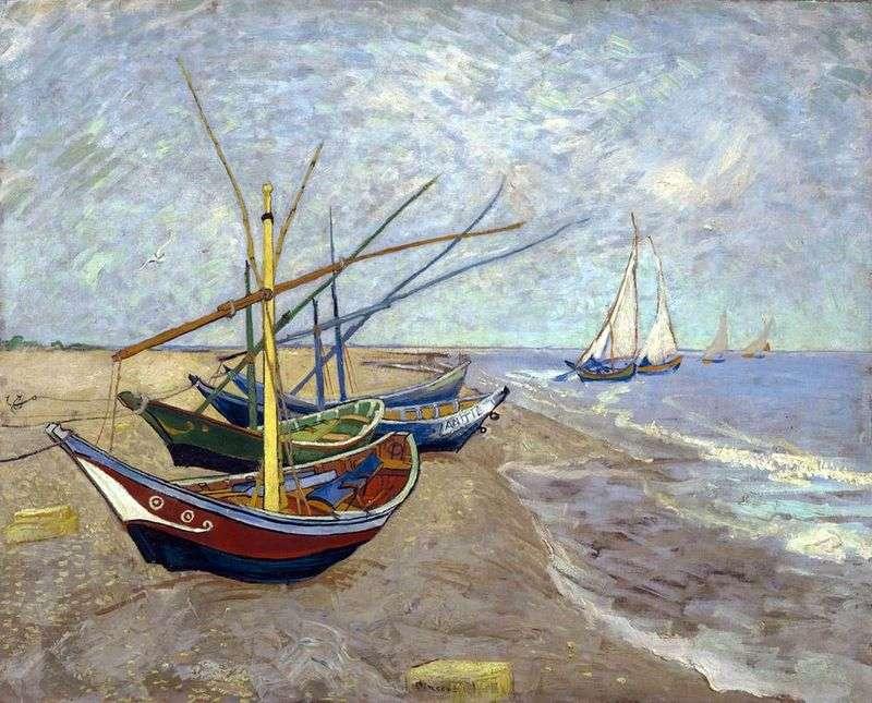 Рибальські човни на пляжі від Сент Марі   Вінсент Ван Гог