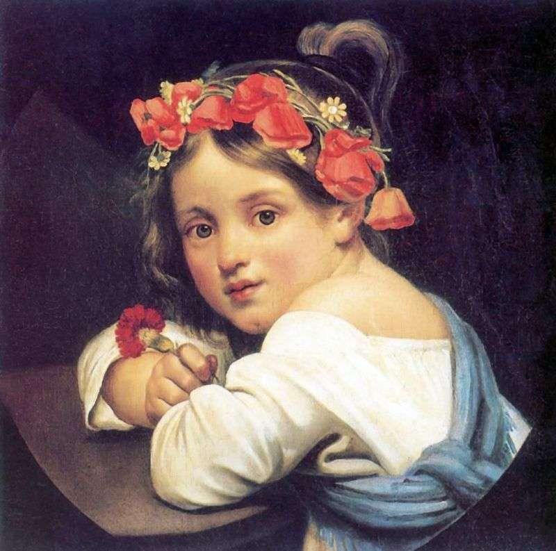 Дівчинка у маковому вінку   Орест Кіпренський